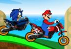 Mario lenktynės su sonic