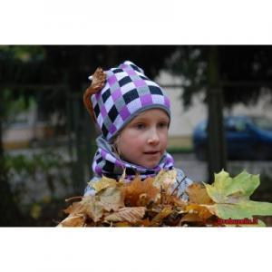 Kepurė mergaitei, su mova
