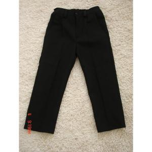 Mokyklinės tamsiai mėlynos klasikinės kelnės