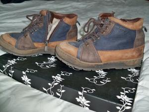 Žieminiai natūralios odos ir kailio batai
