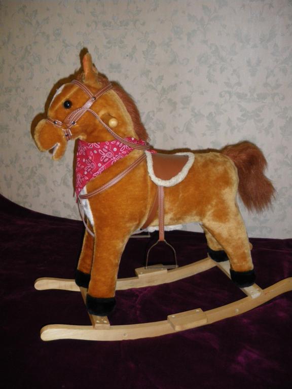 Pliušinis supamas arkliukas