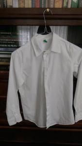 Balti marškiniai 140 cm