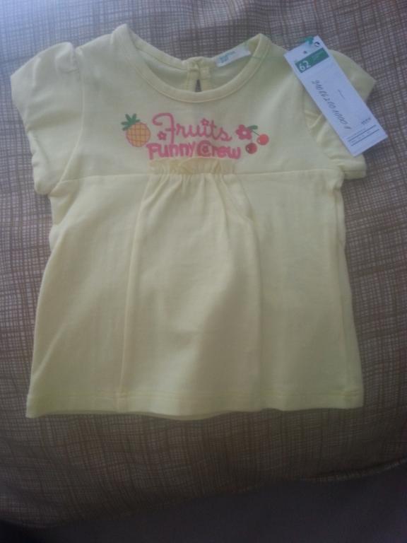 Geltoni, benetton marškinėliai