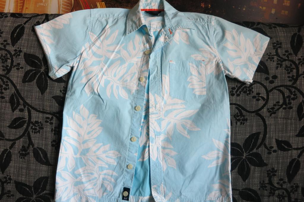 Žydri marškiniai berniukui