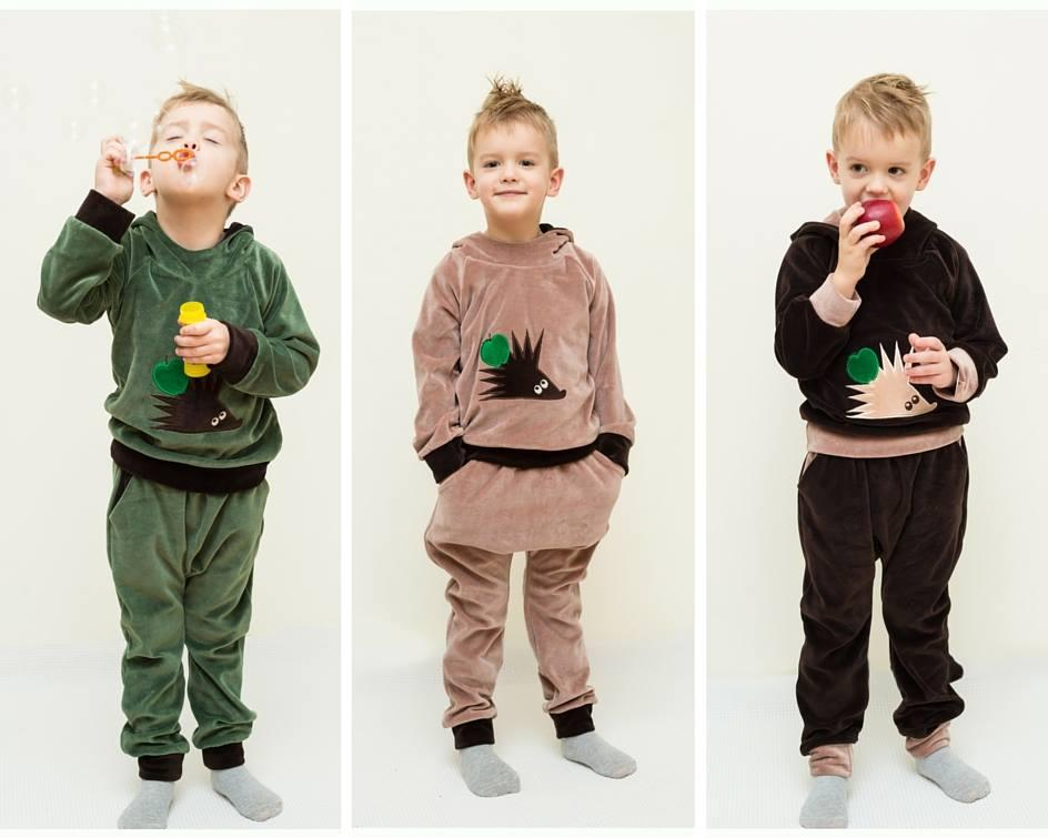 Veliūrinis kostiumėlis berniukams