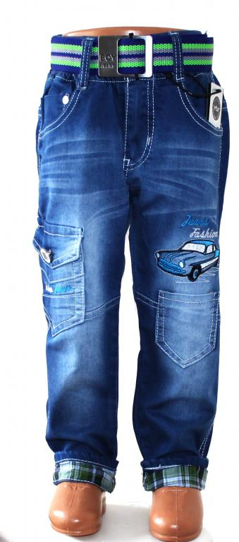 Nauji  kokybiški džinsai berniukuams su diržu ir atlenkiamais galais