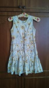 Vasarinė suknelė su saulėgrąžomis