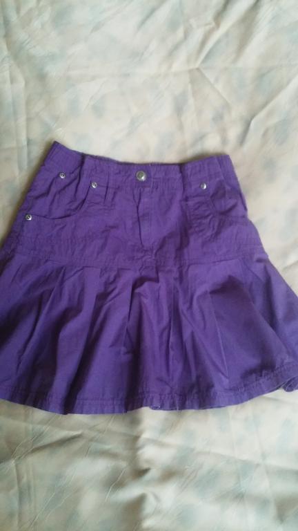 Dailu violetinis sijonas