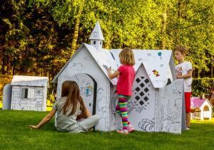 Kartoniniai spalvinamieji nameliai vaikams