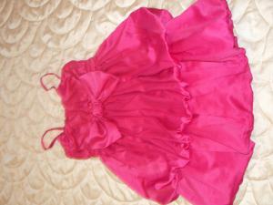 Rausva lindex suknelė