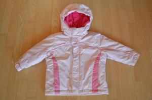Šilta rožinė žieminė striukė mergaitei