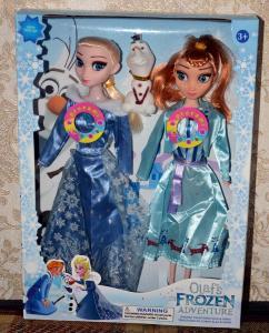 lėlės elza ir ana iš ledo šalies dainuojančios