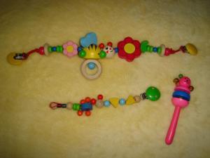 Natūralaus medžio žaisliukai