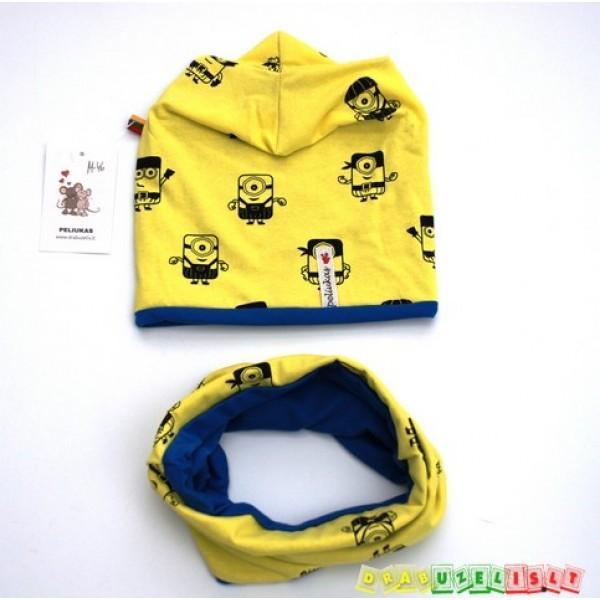 Kepurė su mova geltonieji pakalikai