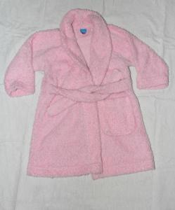 Rožinis minkštas chalatas