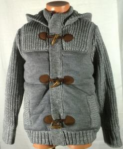 Stilingas pilkas šiltas megztinis berniukams