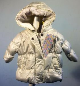 Šilta balta striukė kūdikėliams