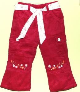 Šiltos, ryškiai rožinės/raudonos kelnės mergaitei