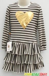 """Puošni suknelė """"auksinė širdelė"""", 432"""
