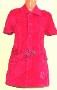 Stilinga velvetinė suknelė-sarafanas mergaitei