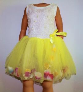 Nauja pūsta, puošni suknelė mergaitei