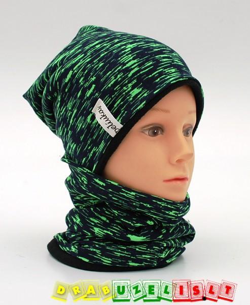 """Šilta kepurė su mova rudeniui-žiemai """"šiltas beržas"""", 773"""