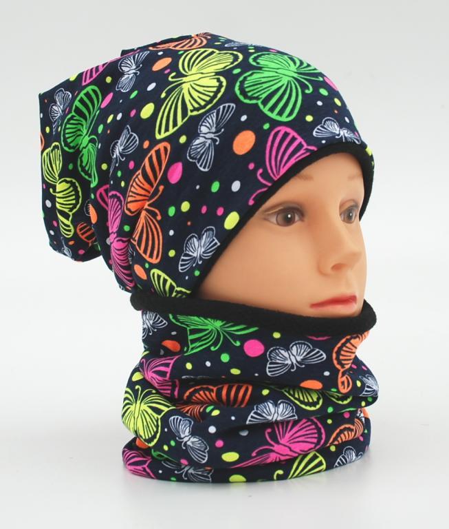 """Šilta kepurė su mova """"šilti drugeliai"""", 772"""