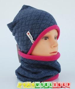 """Šilta kepurė vaikui su mova """"pink and grey"""", 290"""