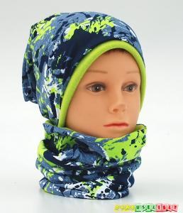 """Šilta kepurė vaikui su mova """"žalias kamufliažas"""", 787"""