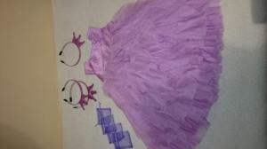 Nauja princeses gimtadienio suknele gimtadienio, atributika