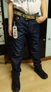 Pasiltinti (su pukeliu vidinėje pusėje) džinsiukai berniukui