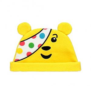 Šilta geltona meškiuko kepurė