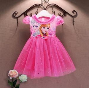 Rožinė elza anna suknelė