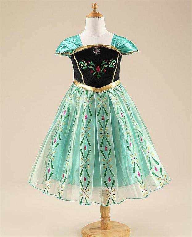 Žalia anna suknelė trumpomis rankovėmis