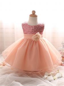 Rusva suknelė su žvyneliais