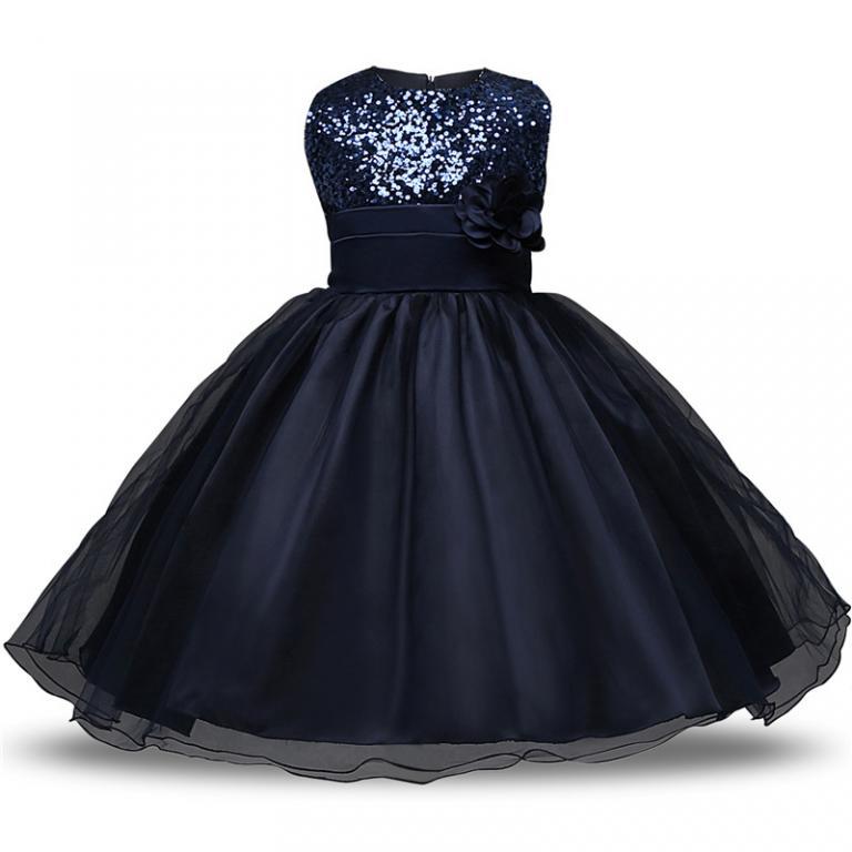 Tamsiai mėlyna suknelė su žvyneliais