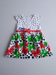 Vasariška suknelė su raudonais drugeliais