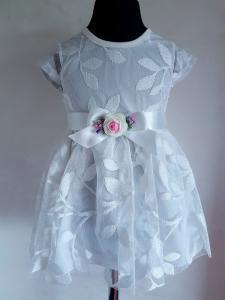 Balta medvilninė suknelė