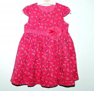 Puošni raudona suknelė 3-6 mėn. mergaitei
