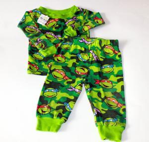 Kamufliažinės turtles pižamos berniukams