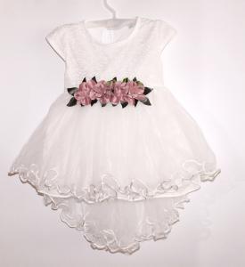 Pūsta, puošni balta tiulio suknelė mergaitei