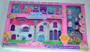 Žaislas peppa pig namas su paršiukais