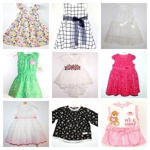 Puošnios ir kasdieninės suknelės 0-1 metų mergaitėms