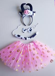 Rožinė karvytė - karnavalinis kostiumas