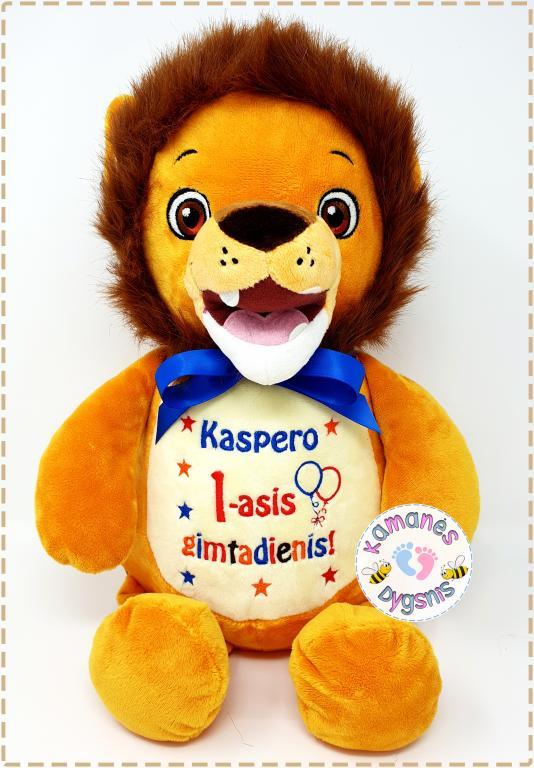 Vardinis pliušinis žaislas ''liūtukas''