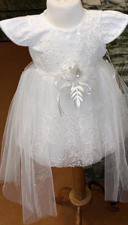 Mergaitės labai puošni krikšto suknelė nauja