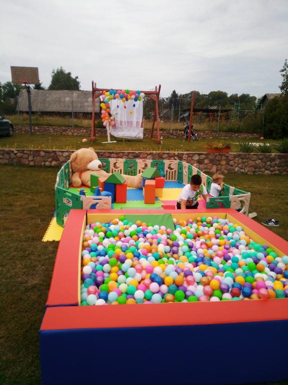 Žaidimų aikštelė su kamuoliukų baseinu