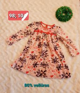 Kalėdinė,  veliūrinė suknelė 98d.