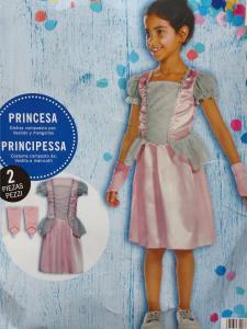 Rožinė princesės suknelė su riešinėmis