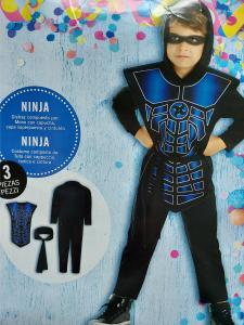 Nindzės karnavalinis kostiumas